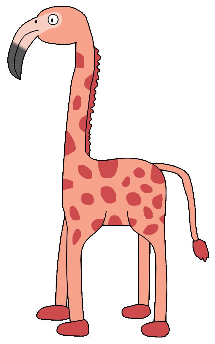 Neck clipart animal. Giraffe terrestrial pink m