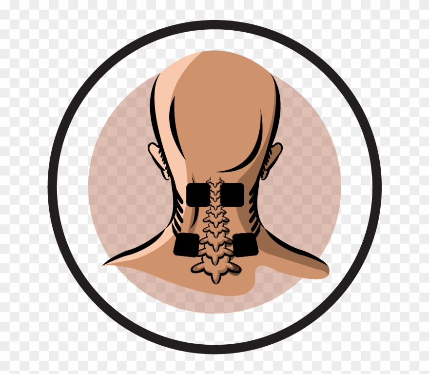 Electrode pad placement by. Neck clipart body part