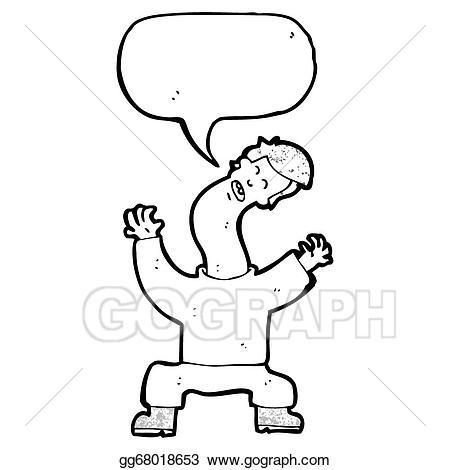 Stock illustration man with. Neck clipart cartoon