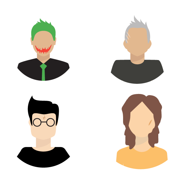 Neck clipart chin. Famous movie characters with
