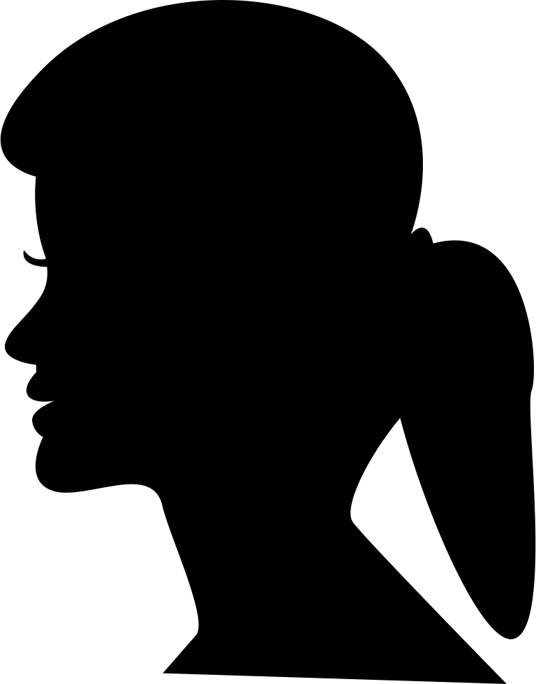 Neck clipart short haircut. Womens head silhouette at