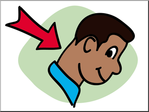 Neck clipart. Clip art basic words