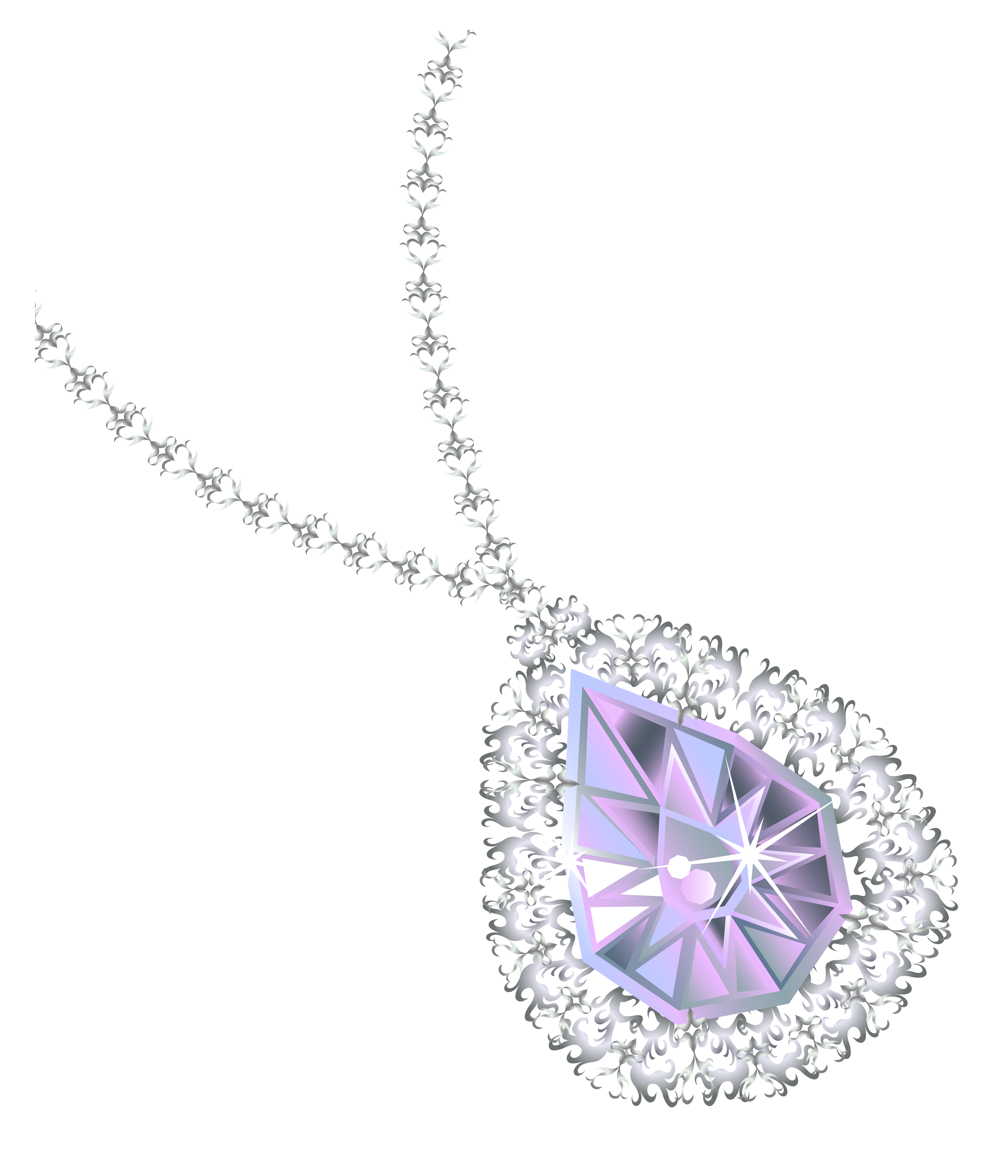 Necklace clipart. Diamond png picture gallery