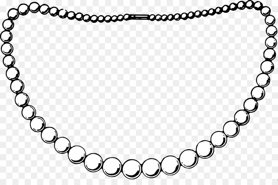 Pearl necklace jewellery clip. Pearls clipart