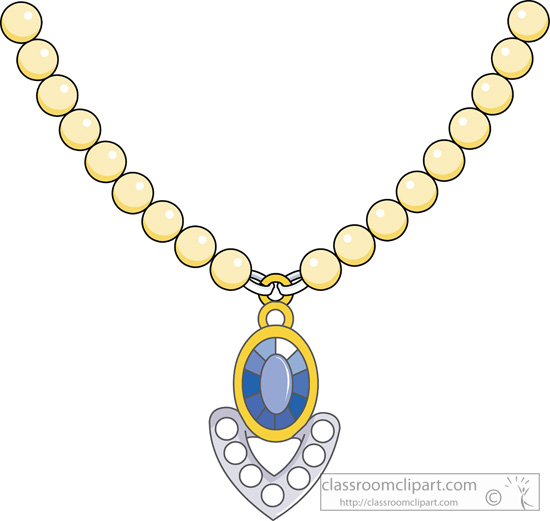 Necklace clipart. Jewel