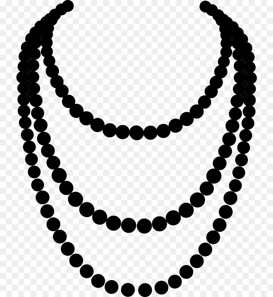 Pattern background necklace black. Pearls clipart neclace