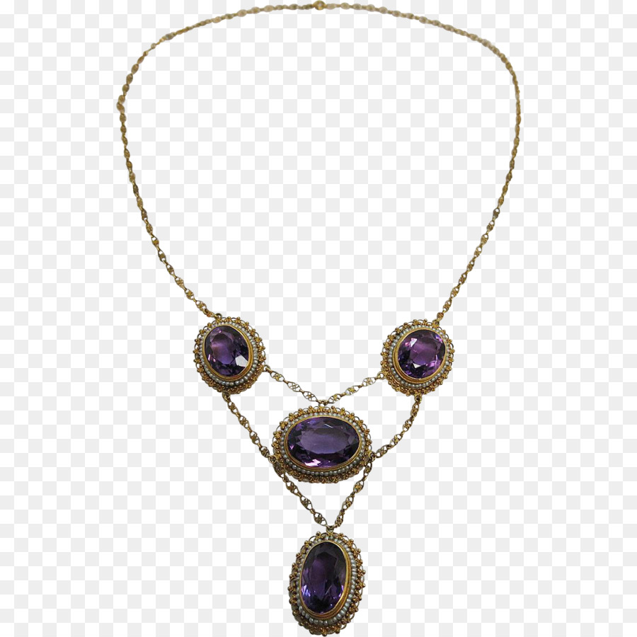 Necklace clipart amethyst. Gold background png download
