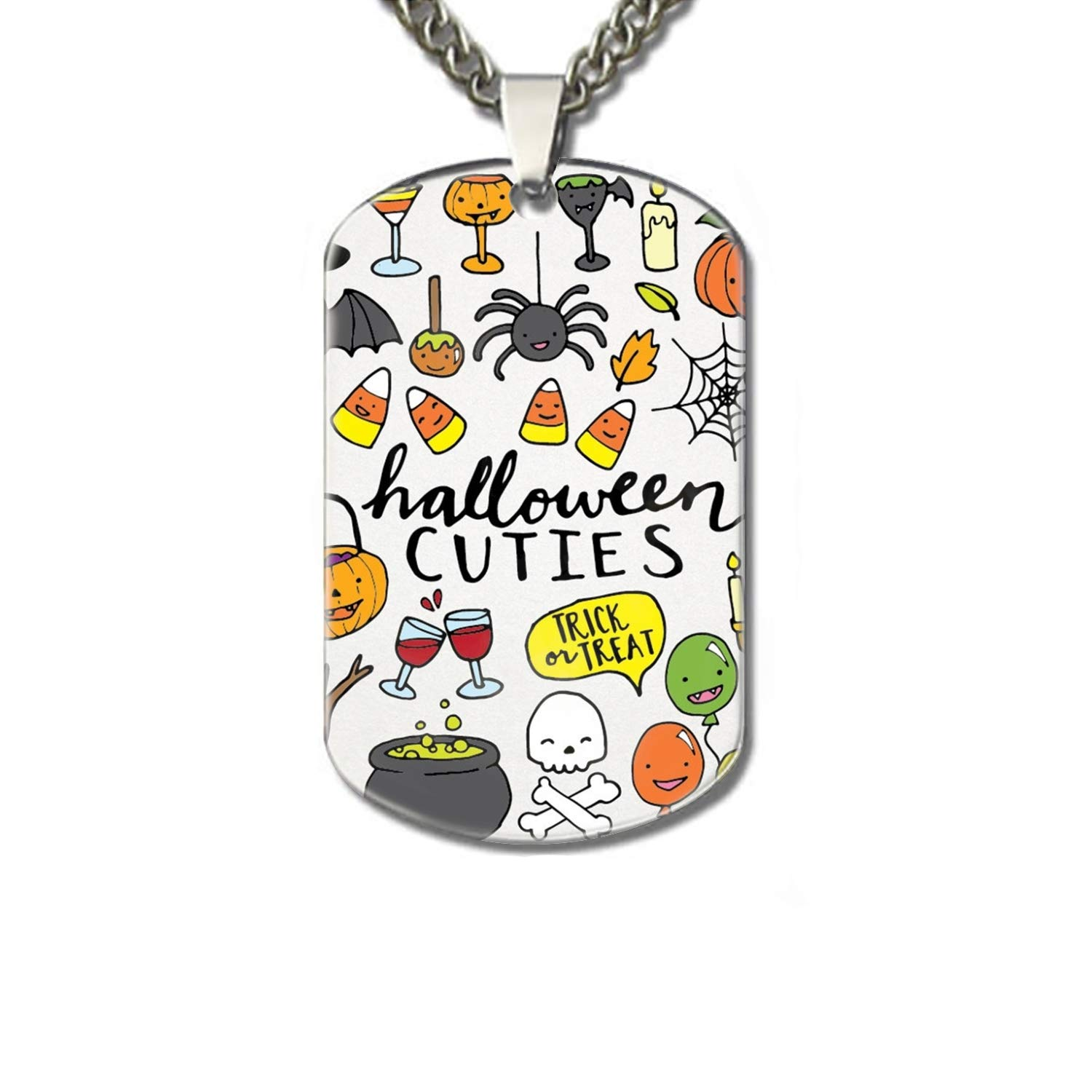 Linhong personalized halloween dogtags. Necklace clipart cute necklace