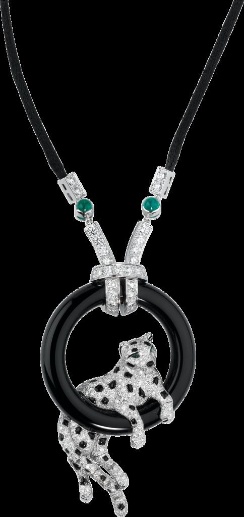 Necklace clipart emerald. Crhp panth re de