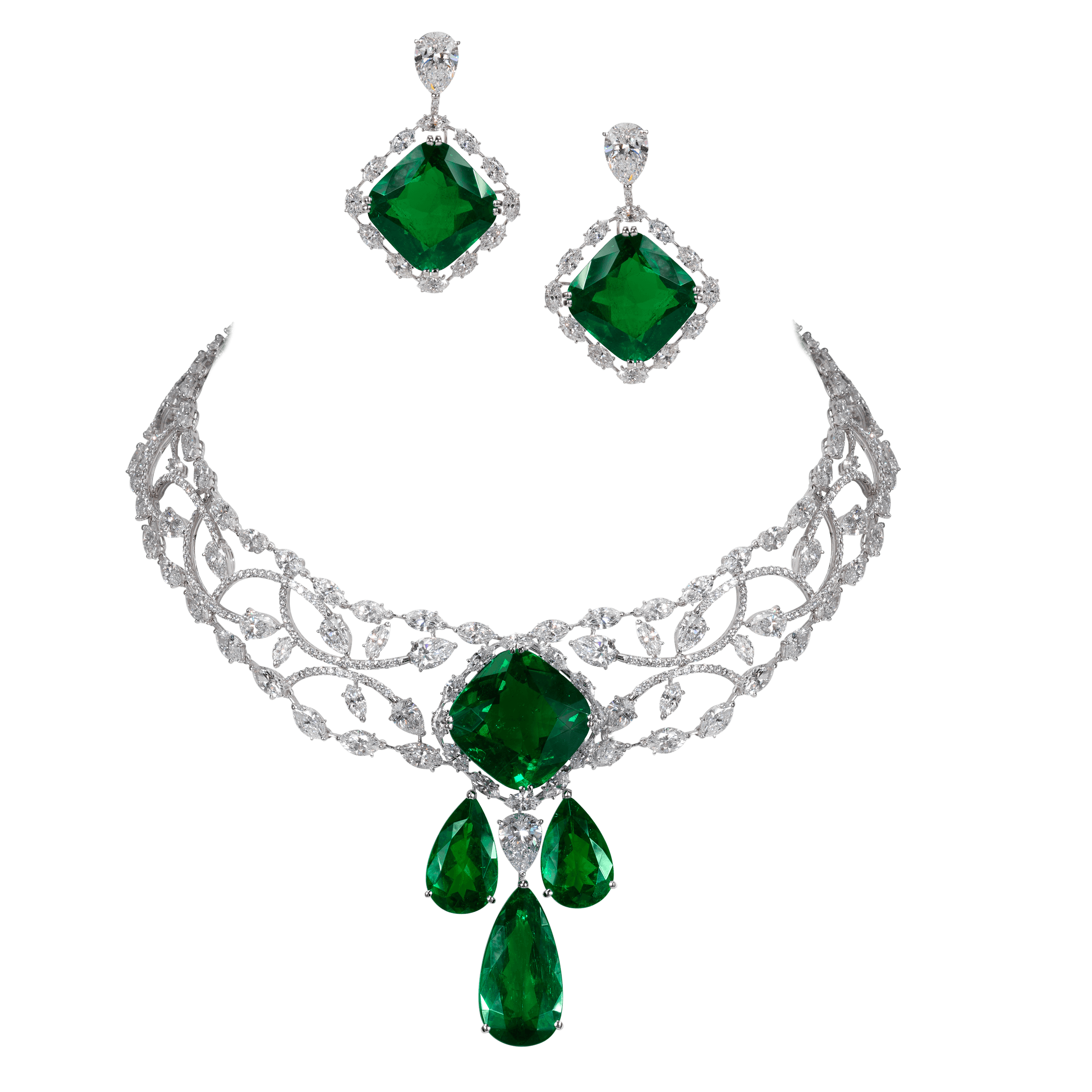 Necklace clipart emerald. Exceptional jewelry moussaieff high