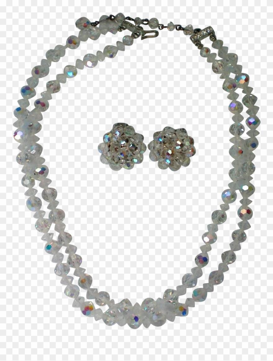 Austrian crystal aurora borealis. Necklace clipart glass bead