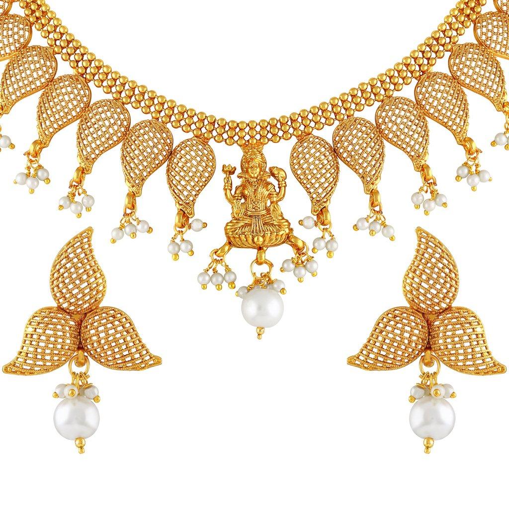 Necklace clipart gold traditional. Asmitta kuri shape plated