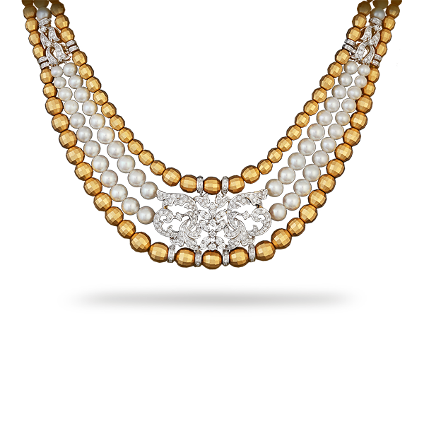 Necklace clipart gold traditional. Shobha asar zoom