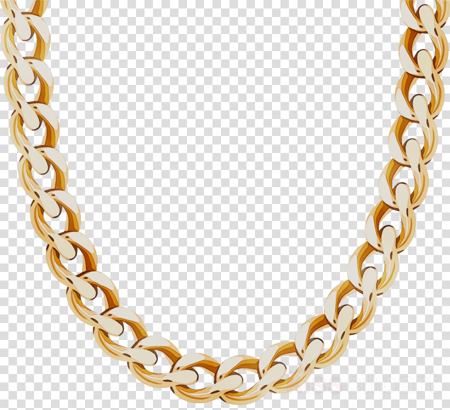 Necklace clipart golden necklace. Gold metal transparent
