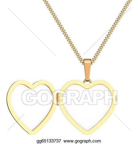 Necklace clipart heart shaped locket. Clip art gold on
