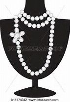 best images pearl. Necklace clipart jewelry display