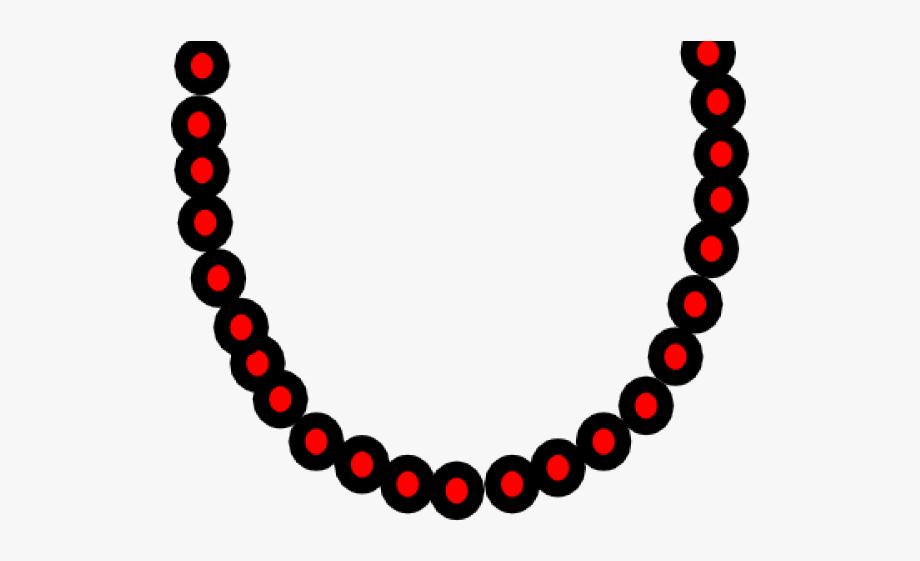 Jewellery black white cliparts. Necklace clipart mala