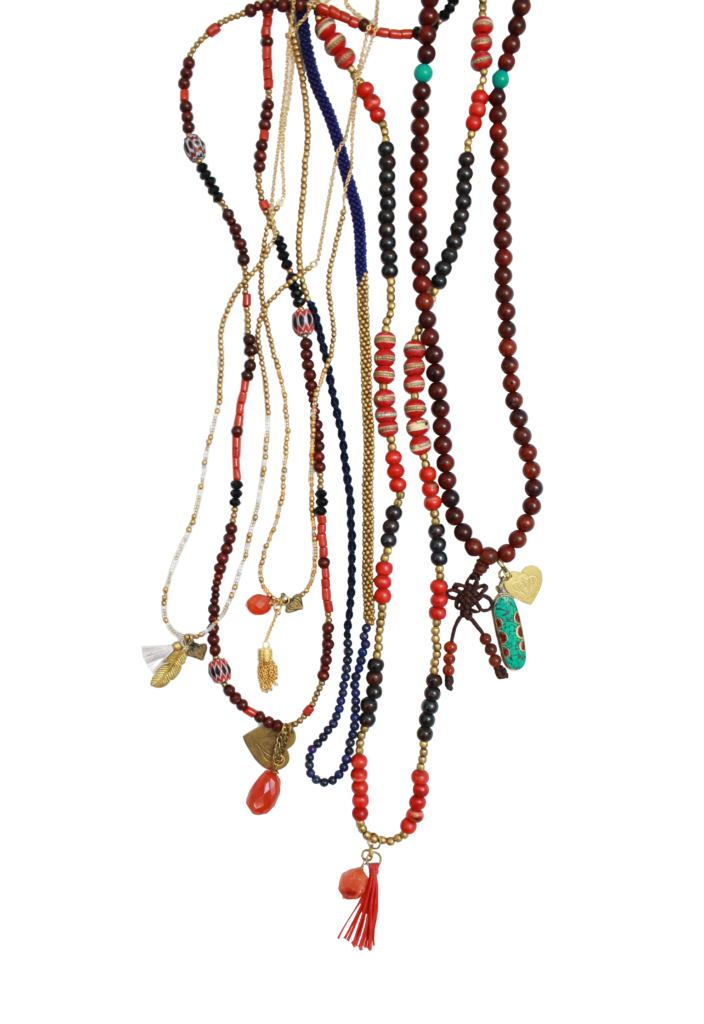 Handmade jewelry beads for. Necklace clipart mala