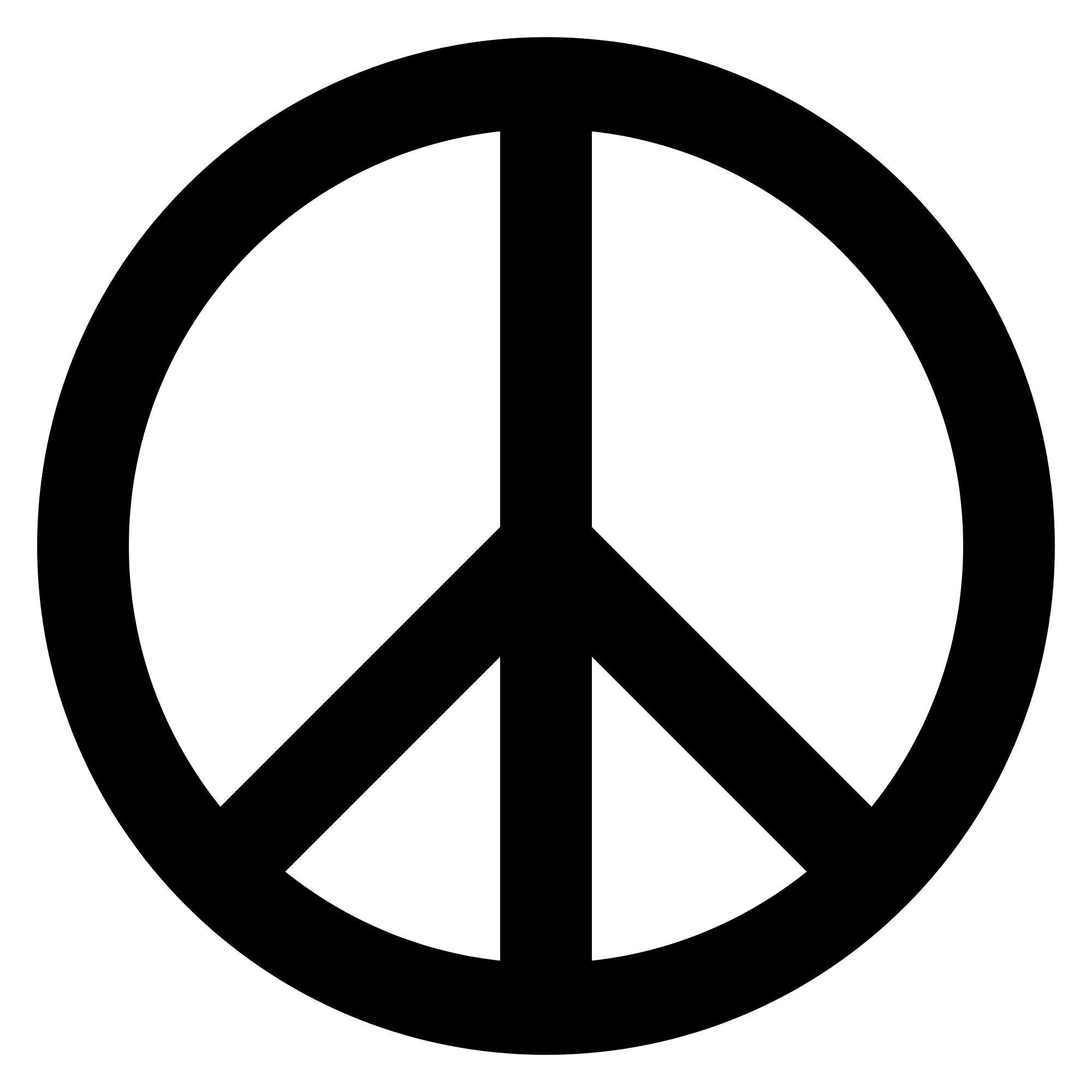 Symbol black transparent png. Peace clipart peace logo