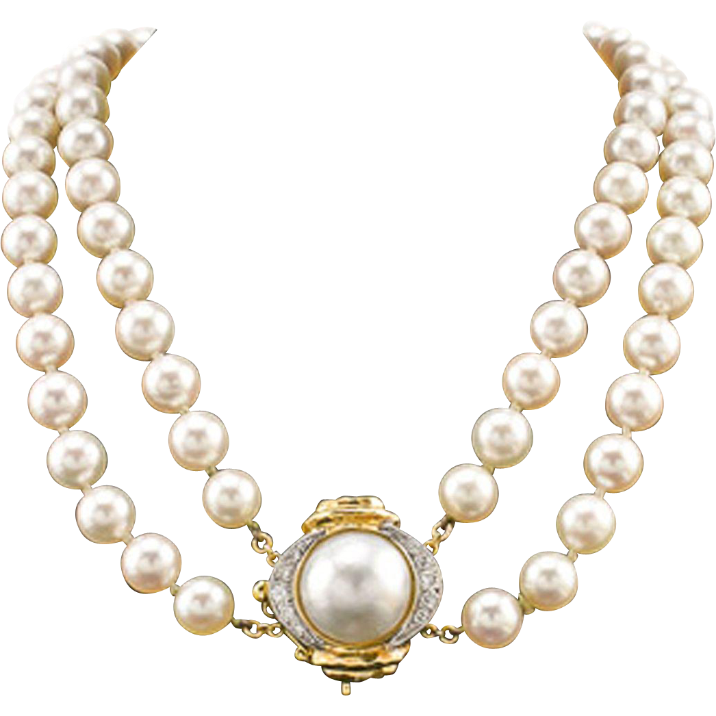 Necklace clipart pearl strand. Png