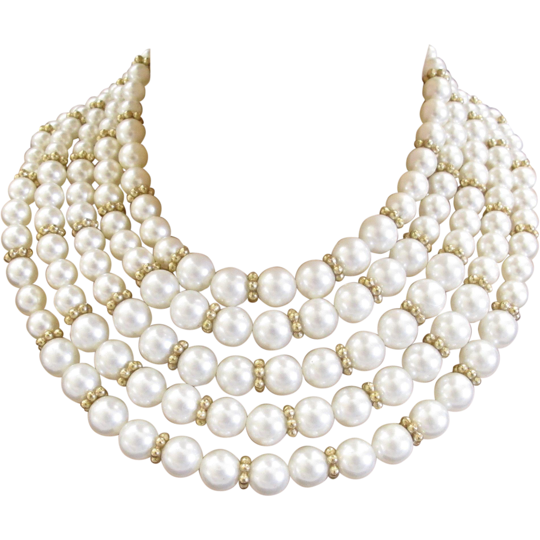 Faux lovely design marvella. Necklace clipart pearl strand