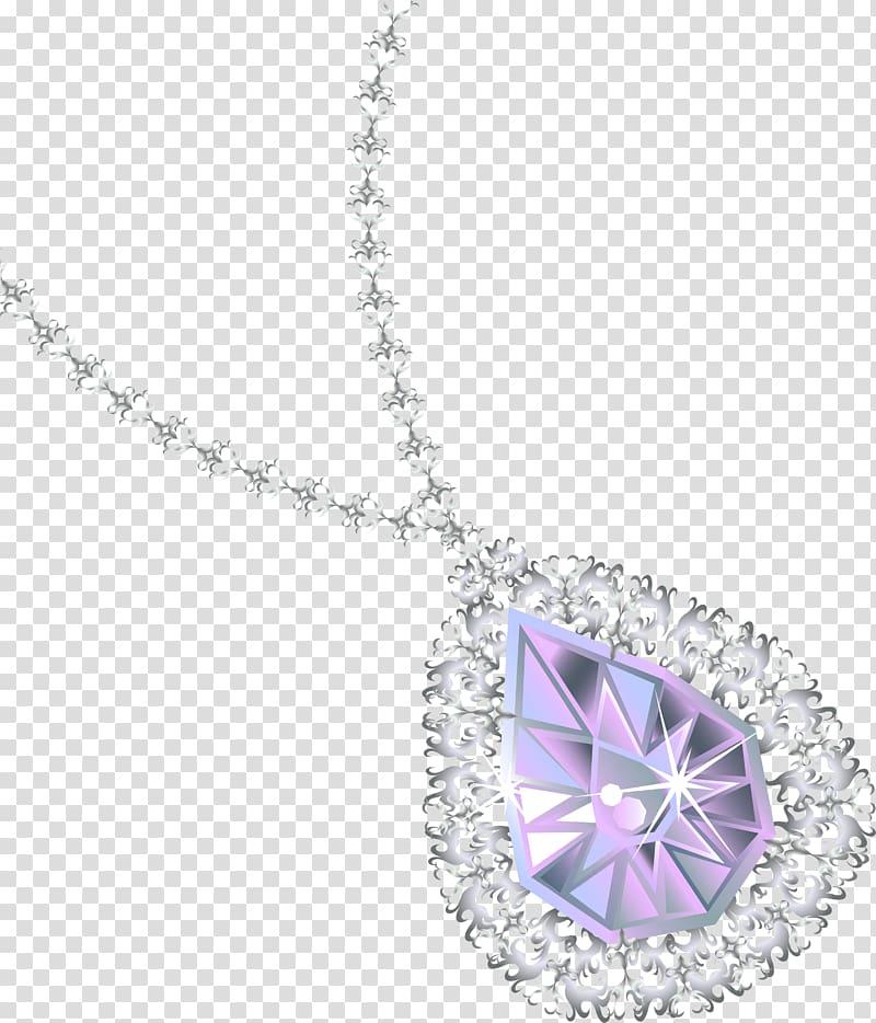 Jewellery diamond earring transparent. Necklace clipart pendant