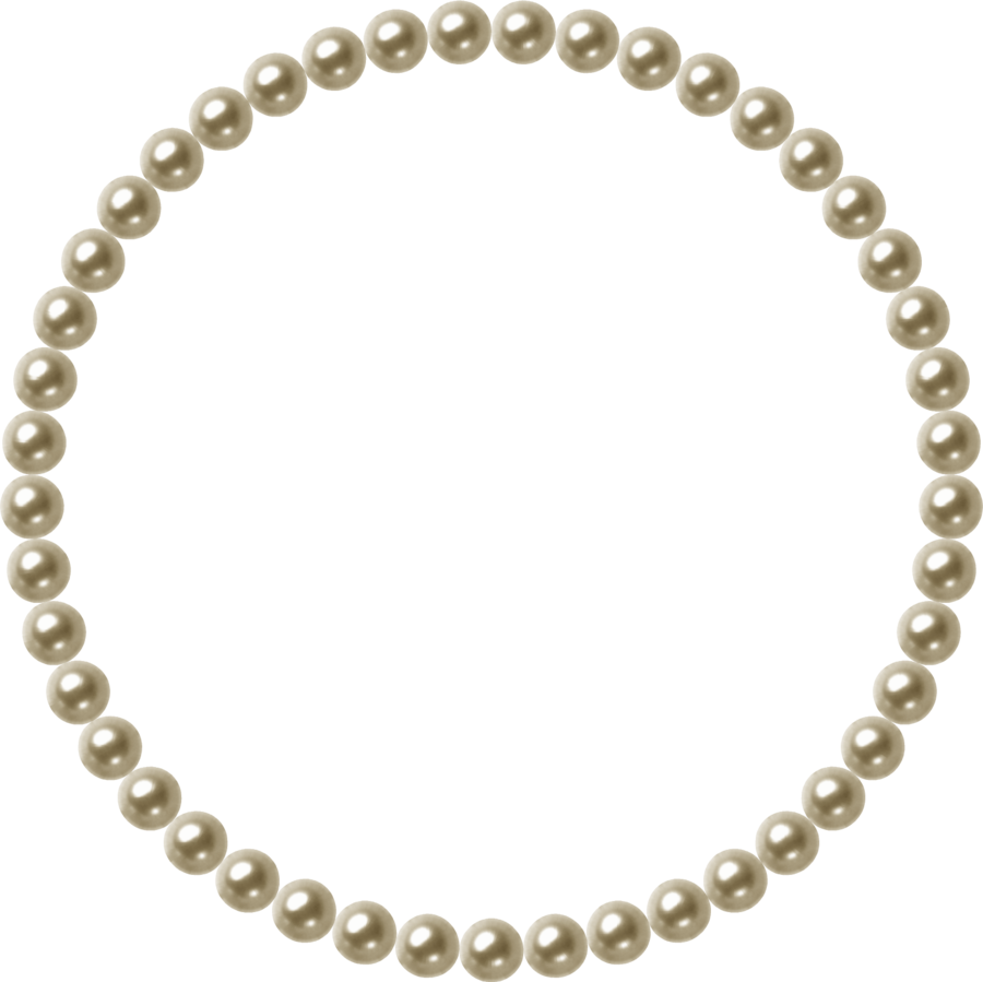 . Pearls clipart divider