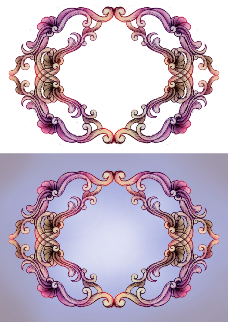 rococo frame by. Necklace clipart purple necklace