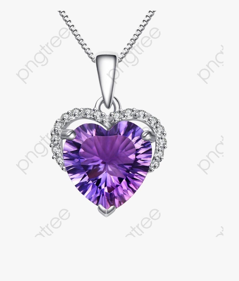 Diamond collier en diamant. Necklace clipart purple necklace