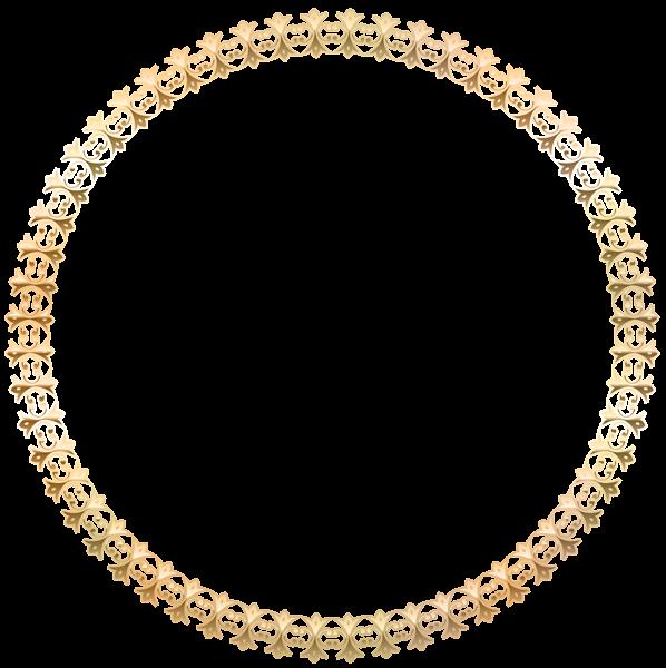 Wheat clipart circular. Round border frame gold