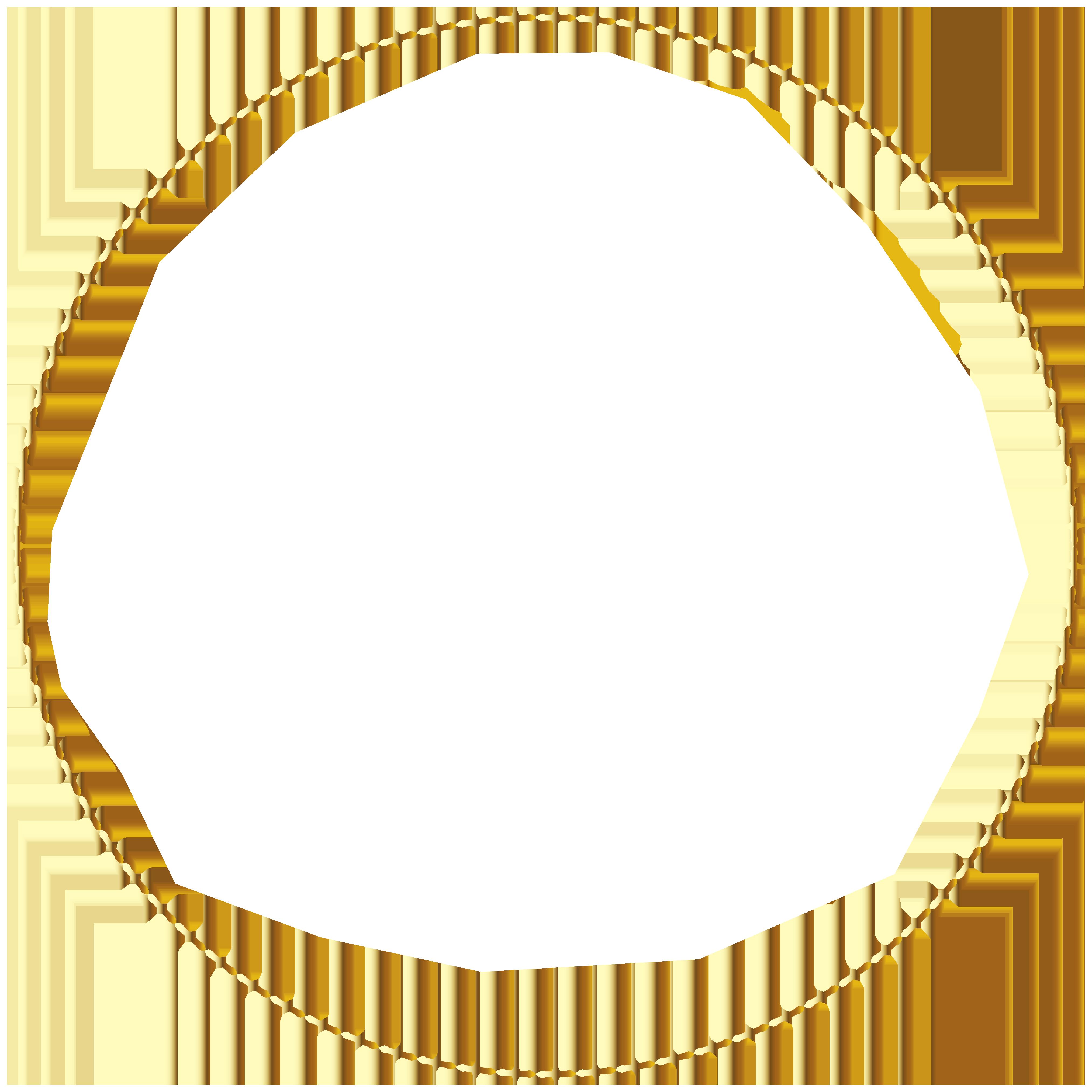 Border frame transparent png. Necklace clipart round gold