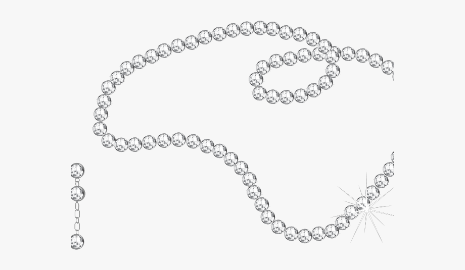 String of pearls . Necklace clipart silhouette png