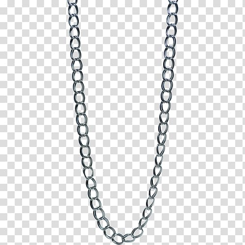 Silver colored chain link. Necklace clipart swag