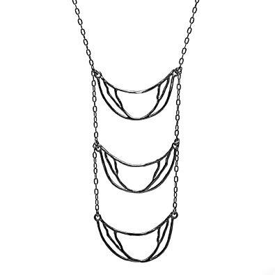 Amazon com crescent triple. Necklace clipart tier