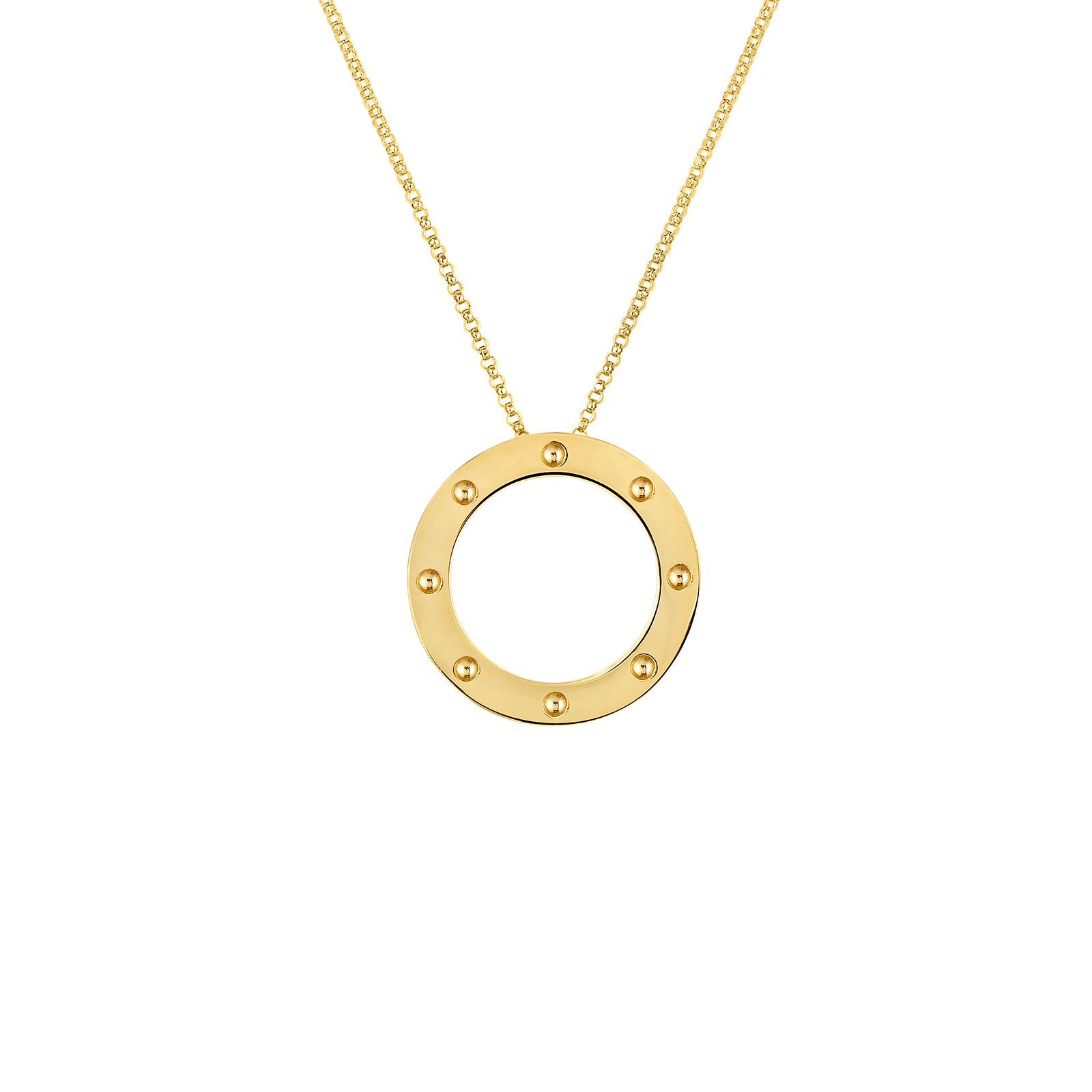 Necklace clipart tier. Gold circle pendant shining