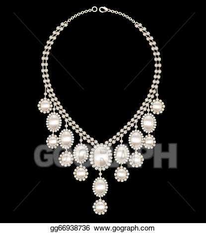 Vector stock female with. Necklace clipart wedding necklace