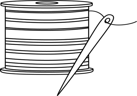 Needle clipart coloring page. Free download best on
