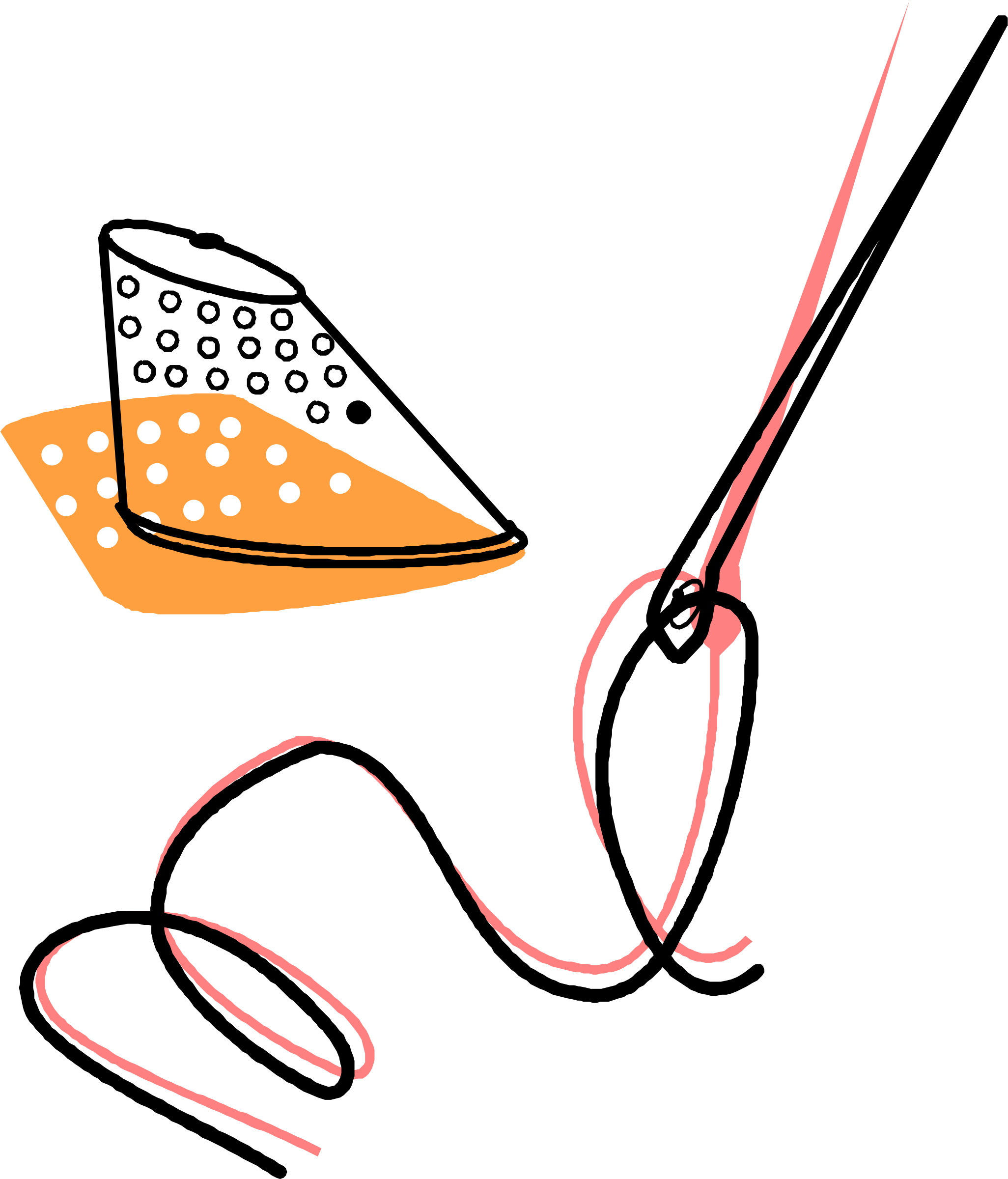 Needle clipart design. Thread and timble icons