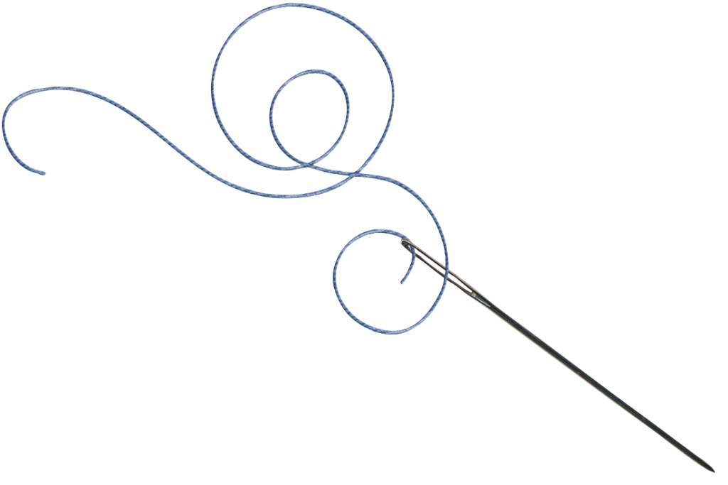 collection of and. Needle clipart gold string