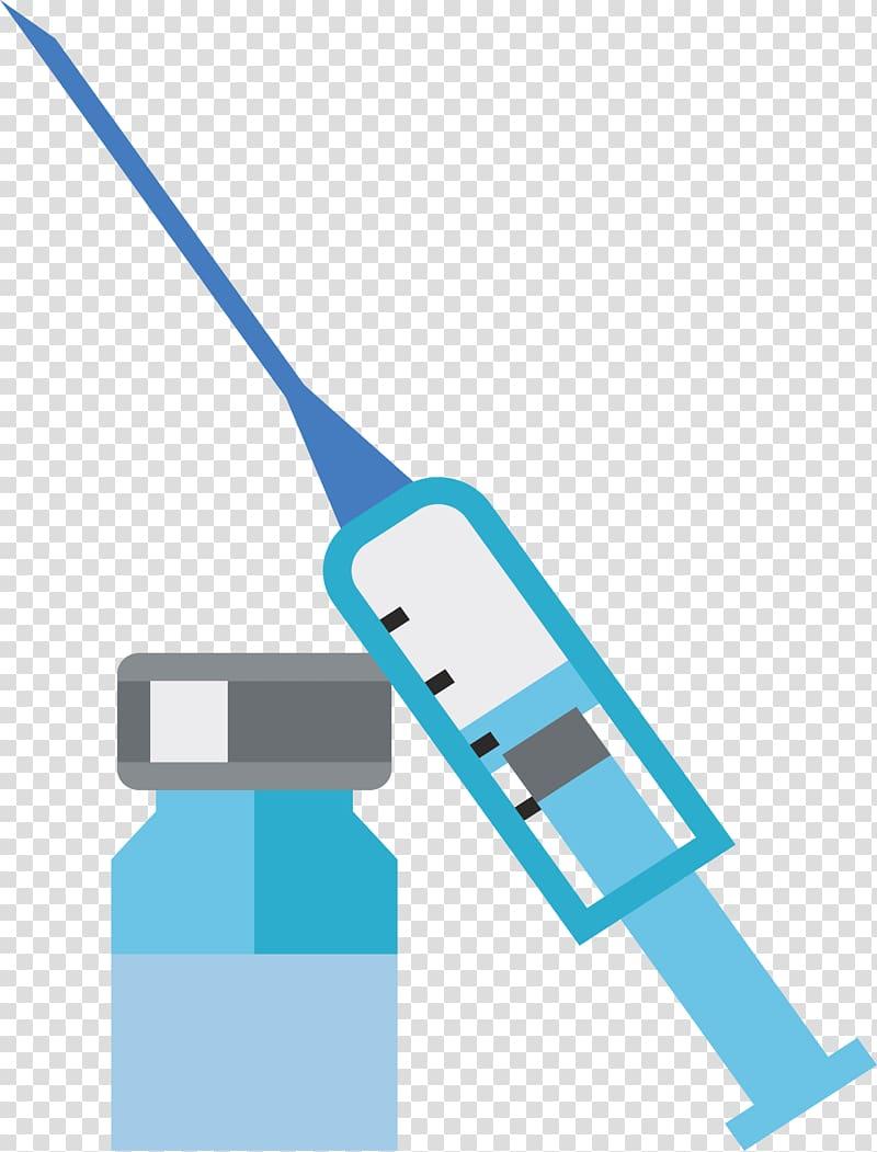 Green syringe and illustration. Needle clipart injection bottle