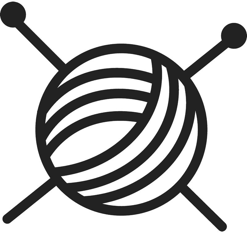Needle clipart knitting needle. Yarn needles rubber stamp