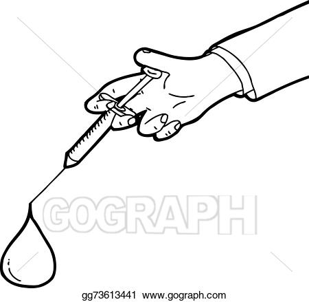 Vector outlined and blood. Needle clipart large