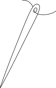 Needle clipart outline. Free cliparts download clip