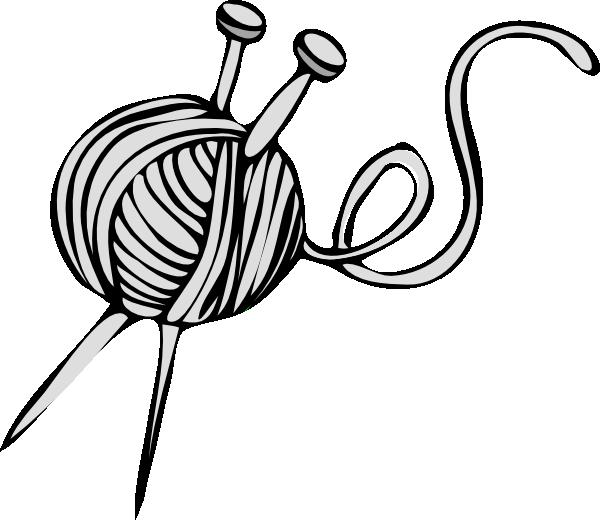 Yarn clip art at. Needle clipart pink