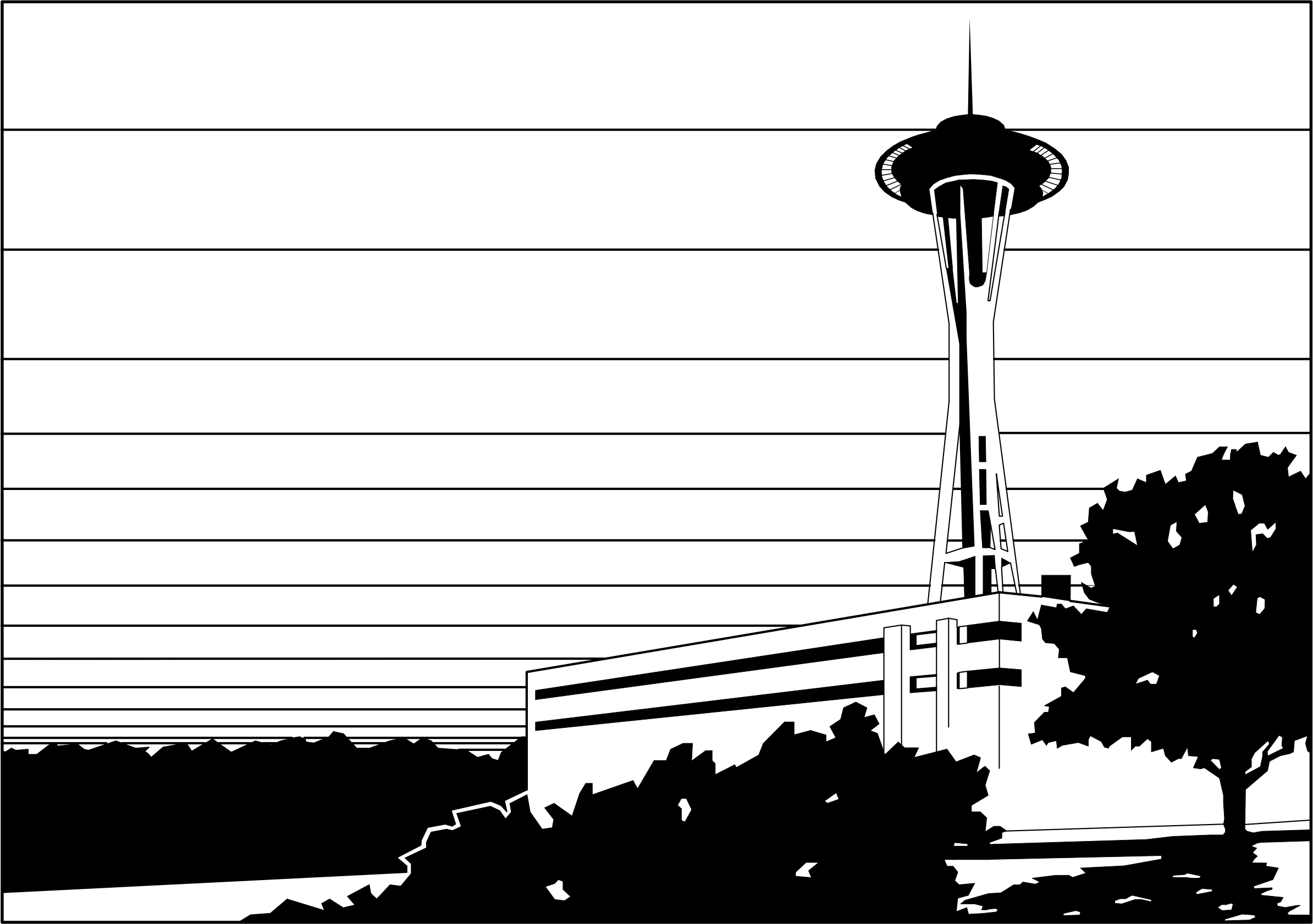 Needle clipart silhouette. Space wa big image