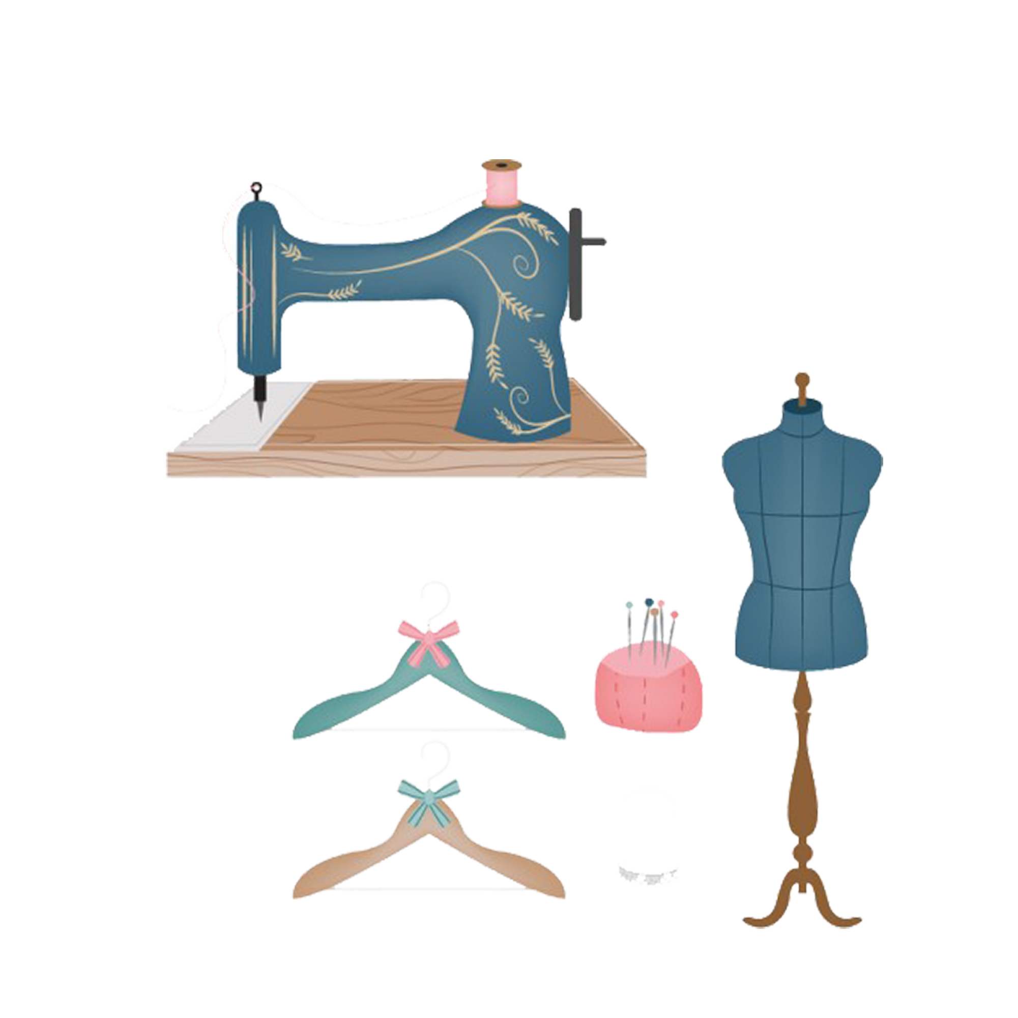 Needle clipart tailor. Sewing drawing machine clip