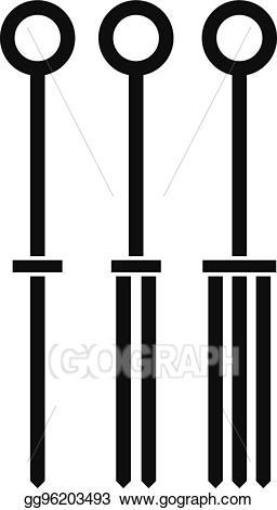 Vector needles icon simple. Needle clipart tattoo needle