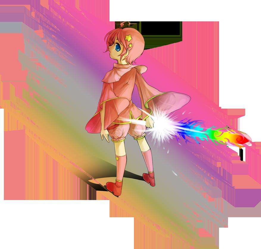 Needle clipart tdap. Kirby rainbow sword by