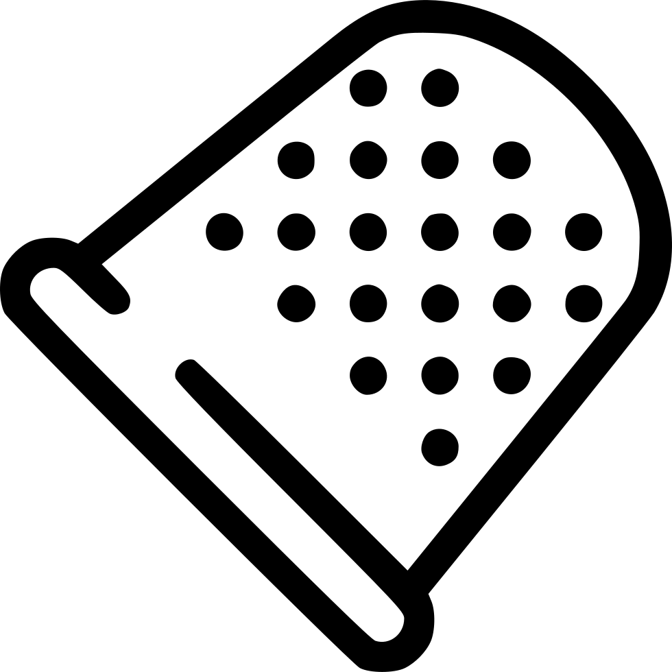 Thimble tailoring finger protection. Needle clipart utensil