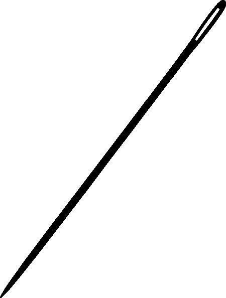 Needle clipart vector. Black clip art online